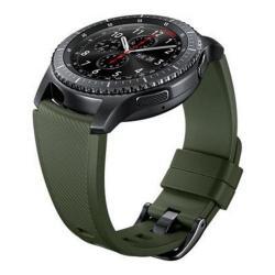 Curea Smartwatch Samsung Active Silicon Strap pentru Gear S3, Khaki
