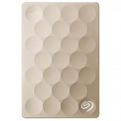 Hard Disk portabil Seagate Backup Plus Ultra Slim STEH1000201, 1TB, USB 3.0, Gold