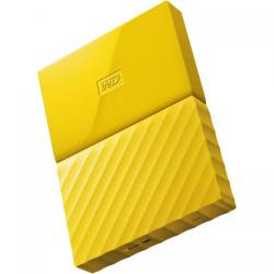 Hard disk portabil Western Digital My Passport New 1TB, Yellow, 2.5inch