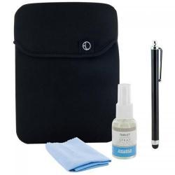 Husa protectie 4World 08490 Black pentru tableta de 10.1inch + stylus, solutie de curatat si laveta