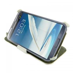 Husa protectie 4World 09133 pentru Galaxy Note 2, Cu suport, 5.5inch, White
