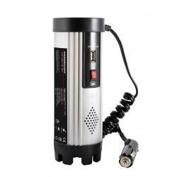 Invertor MODECOM MC R015 c.a./c.c. 24V-230V 150W USB ARGINTIU