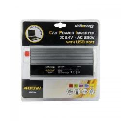 Invertor tensiune Whitenergy 06582 DC/AC de la 24V DC la 230V AC 400W, USB