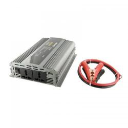 Invertor Tensiune Whitenergy 06588 DC/AC de la 24V DC la 230V AC 1000W, 2 receptacule AC