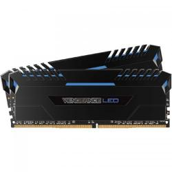 Kit Memorie Corsair Vengeance Blue LED 32GB DDR4-3000MHz, CL15, Dual Channel