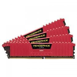 Kit Memorie Corsair Vengeance LPX Red 32GB DDR4-2400Mhz, CL14 Quad Channel