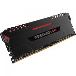 Kit Memorie Corsair Vengeance Red LED 32GB DDR4-3000MHz, CL15, Quad Channel