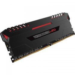 Kit Memorie Corsair Vengeance Red LED 32GB DDR4-3200MHz, CL16, Quad Channel