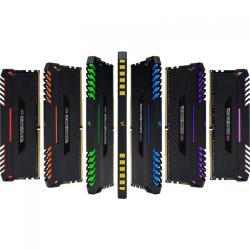 Kit Memorie Corsair Vengeance RGB LED 32GB, DDR4-3466MHz, CL16, Quad Channel
