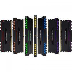 Kit Memorie Corsair Vengeance RGB LED 64GB, DDR4-2666MHz, CL16, Quad Channel