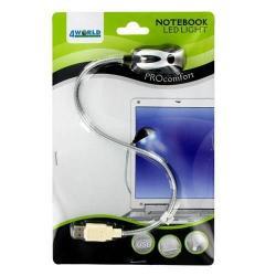 Lampa USB 4World 05440 pt notebook 2 LED-uri