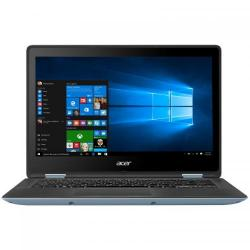 Laptop 2-in-1 Acer Spin SP113-32-P5PK, Intel Pentium Quad Core N4200, 13.3inch Touch, RAM 4GB, SSD 128GB, Intel HD Graphics 505, Windows 10, Blue