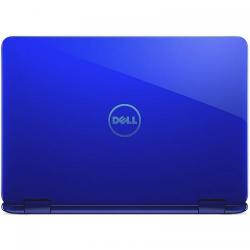 Laptop 2-in-1 Dell Inspiron 3168, Intel Celeron Dual Core N3060, 11.6inch Touch, RAM 2GB, eMMC 32GB, Intel HD Graphics 400, Windows 10, Blue