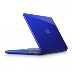 Laptop 2-in-1 DELL Inspiron 3168, Intel Pentium Quad Core N3710, 11.6inch Touch, RAM 4GB, SSD 128GB, Intel HD Graphics 405, Windows 10, Blue