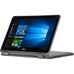 Laptop 2-in-1 DELL Inspiron 3168, Intel Pentium Quad Core N3710, 11.6inch Touch, RAM 4GB, SSD 128GB, Intel HD Graphics 405, Windows 10, Grey
