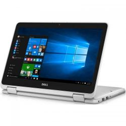 Laptop 2-in-1 DELL Inspiron 3168, Intel Pentium Quad Core N3710, 11.6inch Touch, RAM 4GB, SSD 128GB, Intel HD Graphics 405, Windows 10, White