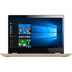 Laptop 2-in-1 Lenovo Yoga 520, Intel Core i3-7100U, 14inch Touch, RAM 4GB, HDD 1TB, Intel HD Graphics 620, Windows 10, Gold
