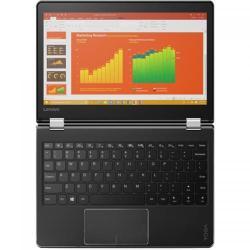 Laptop 2-in-1 Lenovo Yoga 710-11IKB, Intel Core i5-7Y54, 11.6inch Touch, RAM 8GB, SSD 256GB, Intel HD Graphics 615, Windows 10, Black
