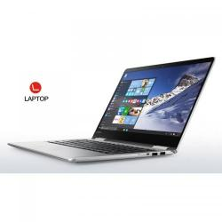 Laptop 2-in-1 Lenovo Yoga 710-14IKB, Intel Core i7-7500U, 14inch Touch, RAM 8GB, SSD 512GB, Intel HD Graphics 620, Windows 10, Silver