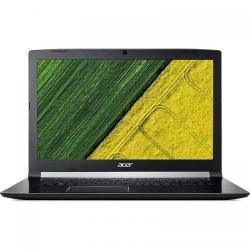 Laptop Acer Aspire 7 A717-71G, Intel Core i7-7700HQ, 17.3inch, RAM 8GB, HDD 1TB + SSD 256GB, nVidia GeForce GTX 1050 Ti 4GB, Linux, Black