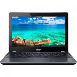 Laptop Acer Chromebook 11 C740, Intel Celeron Dual Core 3215U, 11.6inch, RAM 4GB, eMMC 32GB, Intel HD Graphics, Chrome OS, Grey