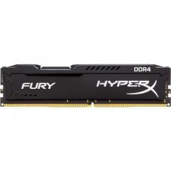 Memorie Kingston HyperX Fury Black, 8GB, DDR4, 2400MHz, CL15, 1.2v