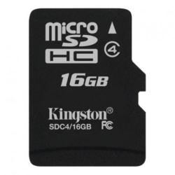 Memory Card Kingston microSDHC 16GB, class 4