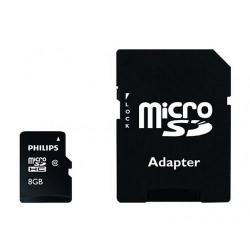 Memory Card Philips Micro SDHC, 8GB, Clasa 10 + Adaptor SD Inclus