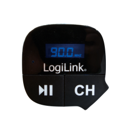 Modulator FM LogiLink FM0004, cu MP3 Player si Slot microSD, Black