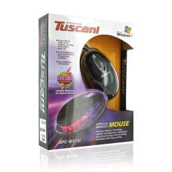Mouse Optic 4World 04211 Tuscani Mini, USB, Black