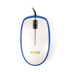 Mouse Optic nJoy L360, USB, White-Blue