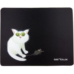 Mouse Pad Serioux Cat and mice MSP02, Black