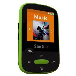 MP3 Player Sandisk CLip Jam 8GB, Radio FM, Black/Lime