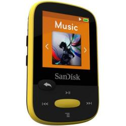 MP3 Player Sandisk CLip Jam 8GB, Radio FM, Black/Yellow