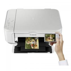 Multifunctional Inkjet Color Canon Pixma MG3650 White Wireless