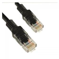 Patch cord 4World 10329, Cat.5e, UTP, 1m, Black