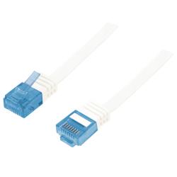 Patch Cord LogiLink CP0132, CAT5e U-UTP, Cablu Plat, 0.25m, White