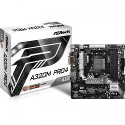 Placa de baza ASRock A320M Pro4, AMD A320, Socket AM4, mATX