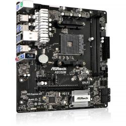 Placa de baza ASRock AB350M, AMD B350, Socket AM4, mATX