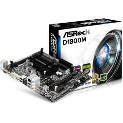 Placa de baza ASRock D1800M, Intel Celeron Dual Core J1800, mATX