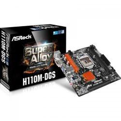 Placa de baza ASRock H110M-DGS, Intel H110, socket 1151, mATX