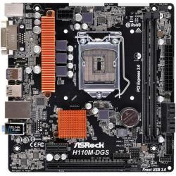 Placa de baza ASRock H110M-DGS R3.0, Intel H110, Socket 1151, mATX