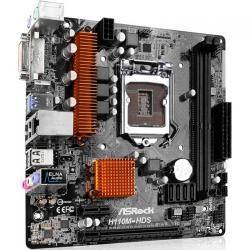 Placa de baza ASRock H110M-HDS, Intel H110, socket 1151, mATX