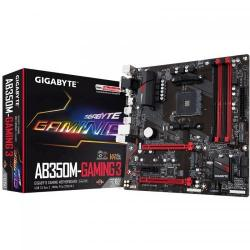 Placa de baza Gigabyte AB350M-Gaming 3, AMD B350, Socket AM4, mATX