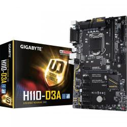 Placa de baza Gigabyte H110-D3A, Intel H110, Socket 1151, ATX
