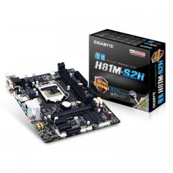 Placa de baza Gigabyte H81M-S2H, Intel H81, socket 1150, mATX