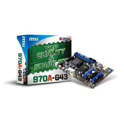 Placa de baza MSI 970A-G43, AMD 970A+SB960, socket AM3+, ATX
