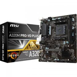 Placa de baza MSI A320M PRO-VD PLUS, AMD A320, Socket AM4, mATX