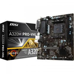 Placa de baza MSI A320M PRO-VHL, AMD A320, Socket AM4, mATX