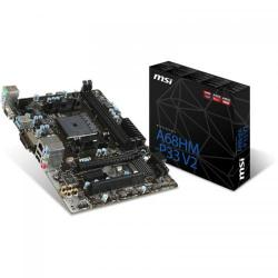 Placa de baza MSI A68HM-P33 V2, AMD A68H, socket FM2+, mATX